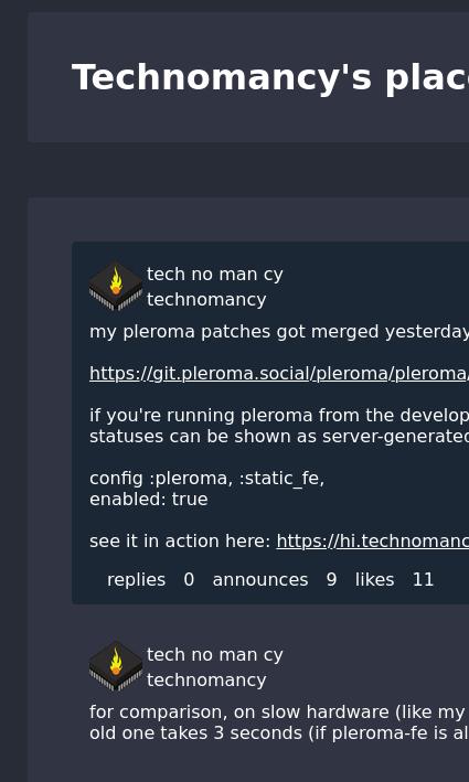 pleroma screenshot